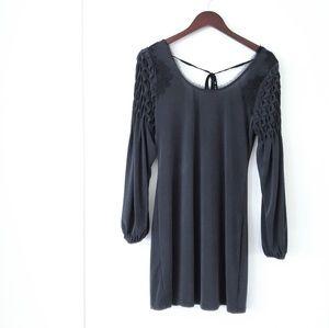 Free People Short Dress Wide Shoulder Medium black